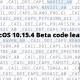 MacOS 10.15.4 Beta code leaked