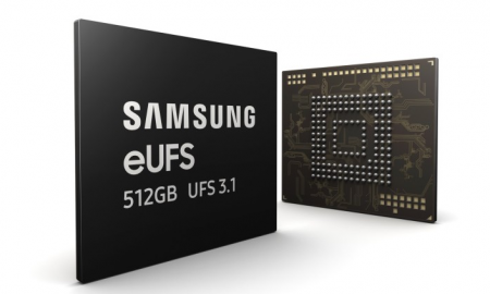 Samsung Mass 512 GB eUFS 3.1 chips