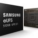 Samsung Mass 512 GB eUFS 3.1 chips