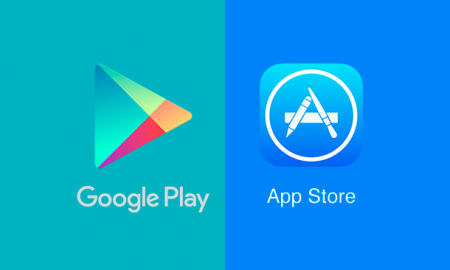 Play Store and App Store