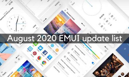 August 2020 EMUI update list