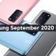 Samsung September 2020 Patch