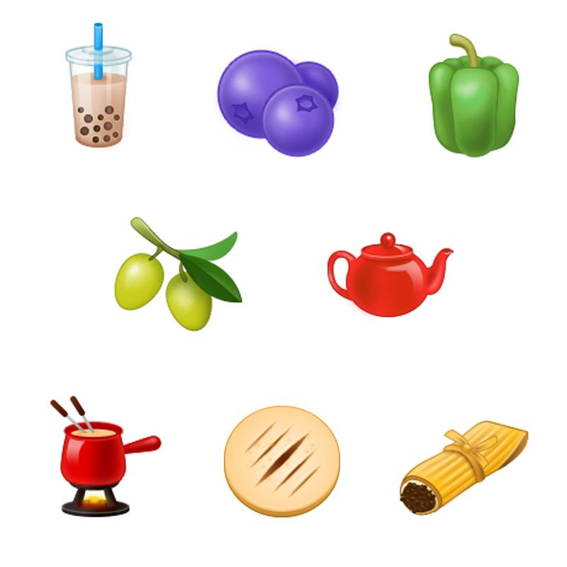 eight new food and drink emojis