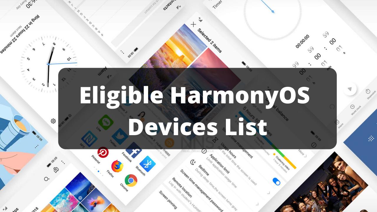HarmonyOS 2.0 Devices List