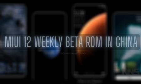 MIUI 12 weekly beta ROMs