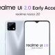 Realme Narzo 20 Early Access Application