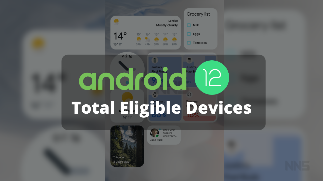 Total Android 12 Eligible Devices